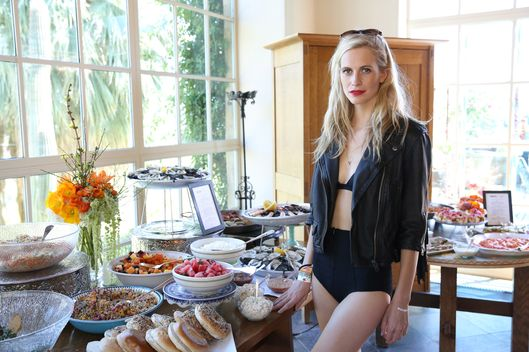 PALM SPRINGS, CA - APRIL 12:  Model Poppy Delevingne attends the Superdry Coachella brunch hosted by Poppy Delevingne on April 12, 2014 in Palm Springs, California.  (Photo by Chelsea Lauren/Getty Images for Superdry)