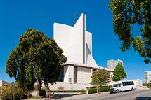 San Francisco St Mary's Roman Catholic Cathedral panorama Califo