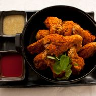 Blue Ribbon fried chicken wings.
