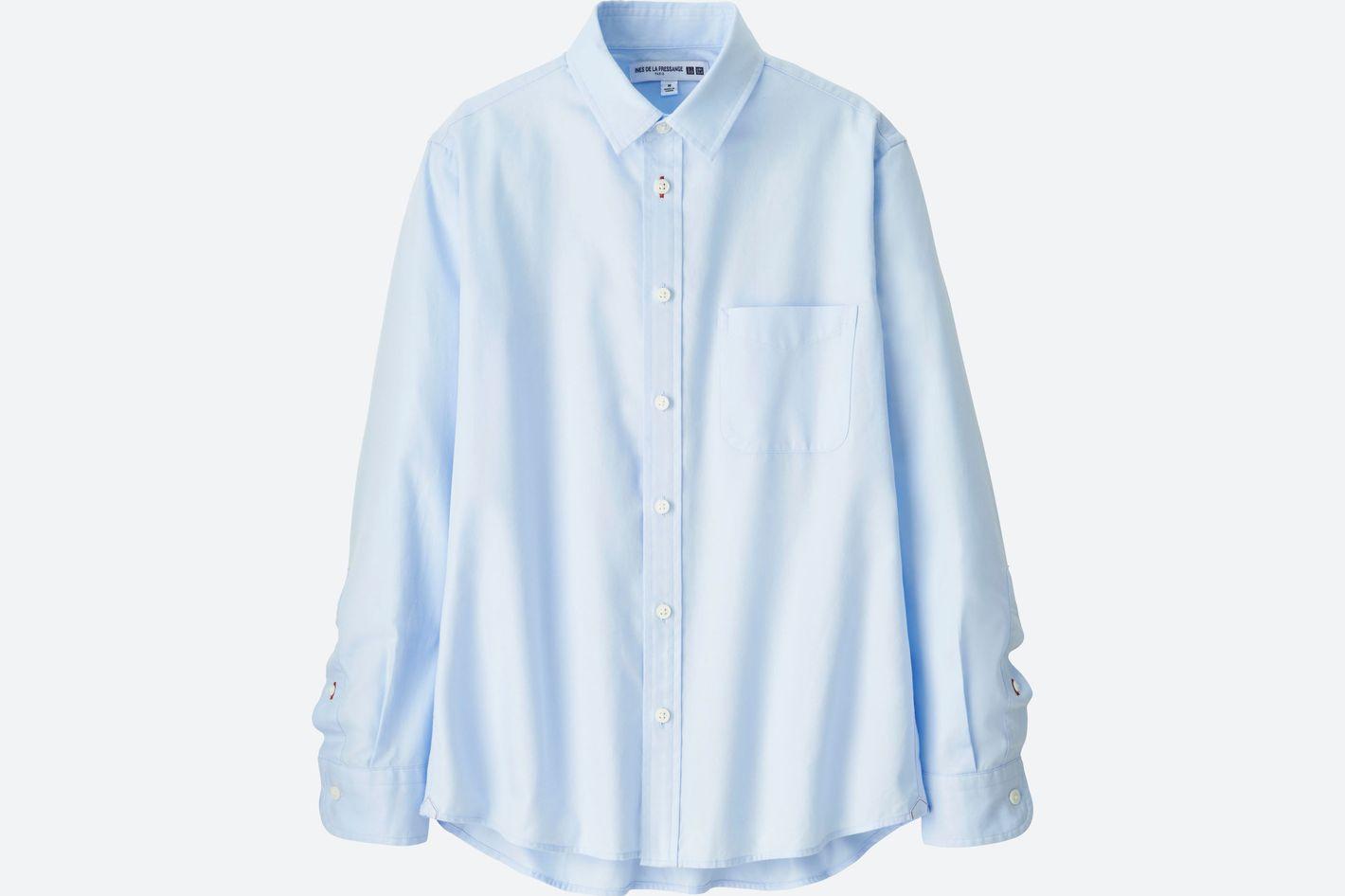 Women Cotton Twill Long-Sleeve Shirt