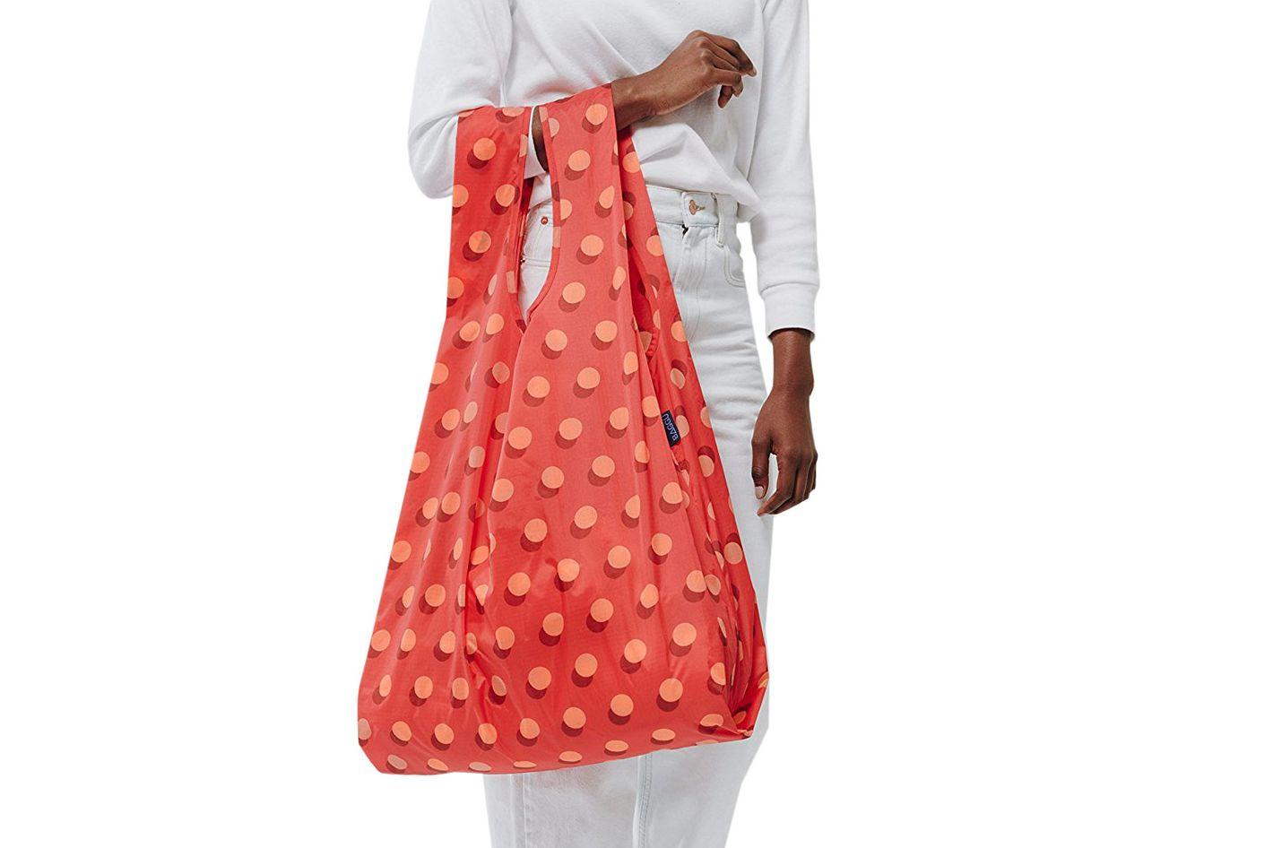 Baggu Large Reusable Shopping — Red Disco Dot