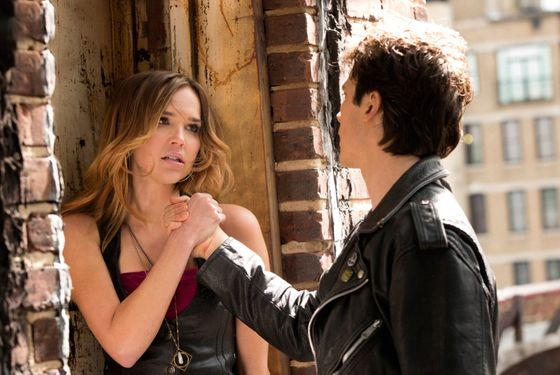 "The Vampire Diaries -- ""Because the Night"" -- Pictured (L-R): Arielle Kebbel as Lexi and Ian Somerhalder as Damon"
