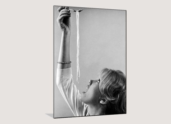 Art.com Hayley Mills Attempting to Eat Spaghetti, by Ralph Crane