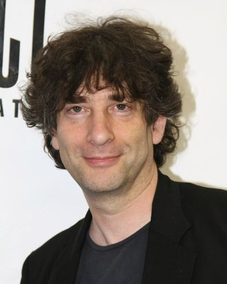 NEW YORK - JUNE 01: Author Neil Gaiman attends the celebration for the world premiere of the musical,
