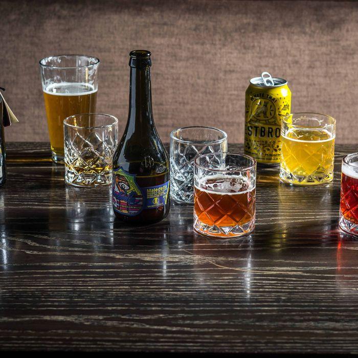 One of each, bartender.