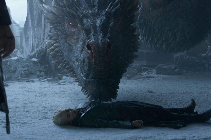 Drogon and Daenerys.