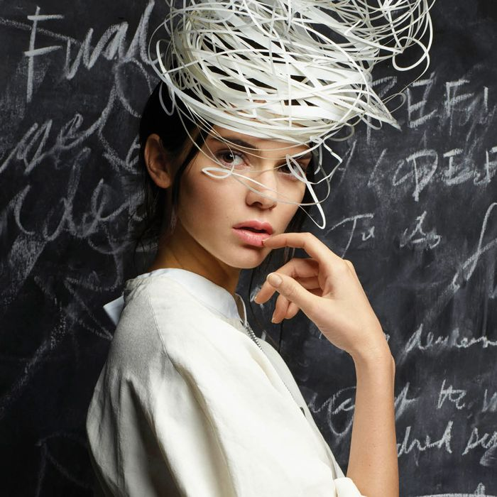 Kendall Jenner, photographed by Karl Lagerfeld for <i>V</i> Magazine's 100th issue.