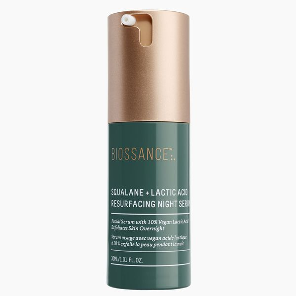 Biossance Squalane + 10% Lactic Acid Resurfacing Night Serum