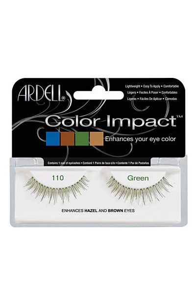 """It comes in subtle blue, green, purple, which enhance the color of your irises. The #110 cut is so natural and feathery."""