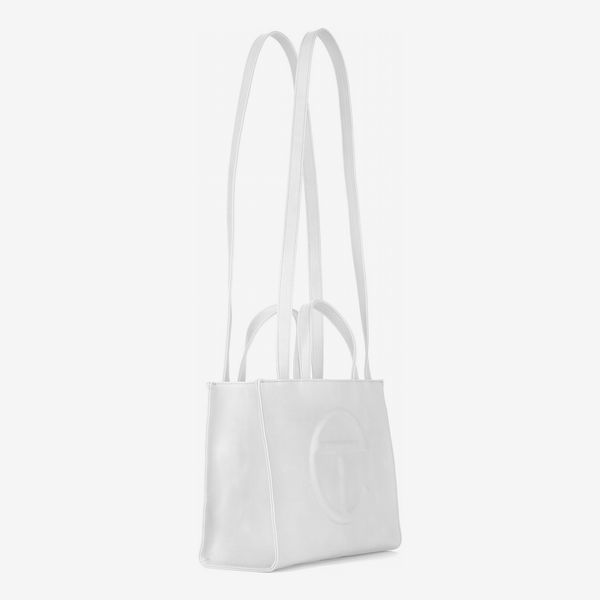 Telfar Medium White Shopping Bag