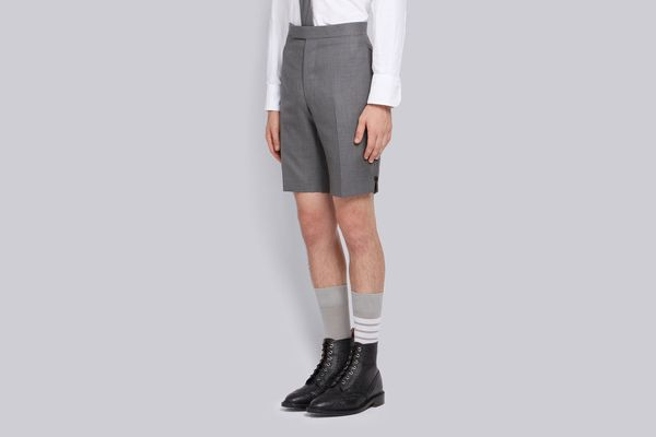 Thom Browne Classic Backstrap Short in Medium Gray