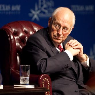 COLLEGE STATION, TX - JANUARY 20: Former Defense Secretary and 46th Vice President Dick Cheney attends an event honoring the 20th anniversary of the Persian Gulf War on January 20, 2011 in College Station Texas. The Gulf War was waged against Iraq from August 1990 to February 1991 during President George H. W. Bush's administration. (Photo by Ben Sklar/Getty Images)