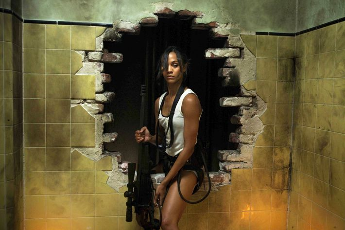 "Zoe Saldana is ""Cataleya"" in TriStar Pictures' COLOMBIANA."