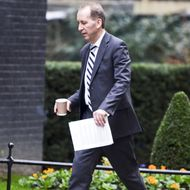 Mandatory Credit: Photo by Steve Back/Rex/REX USA (1195873a)Patrick Rock holding papersCabinet meeting, Downing Street, London, Britain - 08 Jan 2013