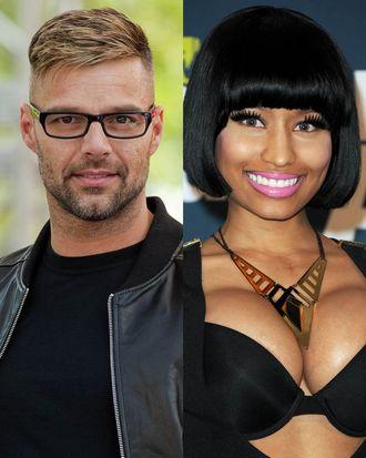 Ricky Martin and Nicki Minaj.