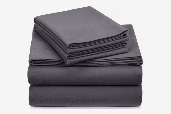 Pinzon Signature Cotton Heavyweight Velvet Flannel Sheet Set, Queen