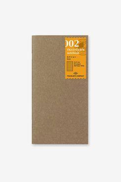 Traveler's Notebook 002 Grid Notebook