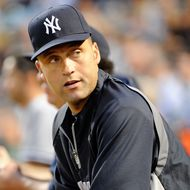 BALTIMORE, MD - AUGUST 29:  Derek Jeter #2 of the New York Yankees watches the game against the Baltimore Orioles at Oriole Park at Camden Yards on August 29, 2011 in Baltimore, Maryland.  (Photo by Greg Fiume/Getty Images)