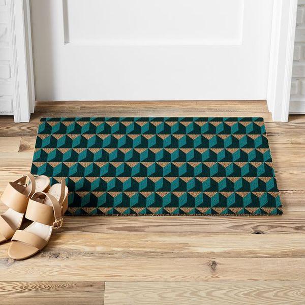 West Elm Alternating Geo Doormat