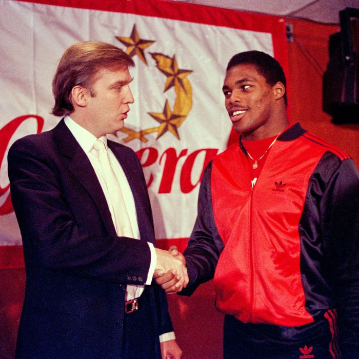 Donald Trump and Herschel Walker.