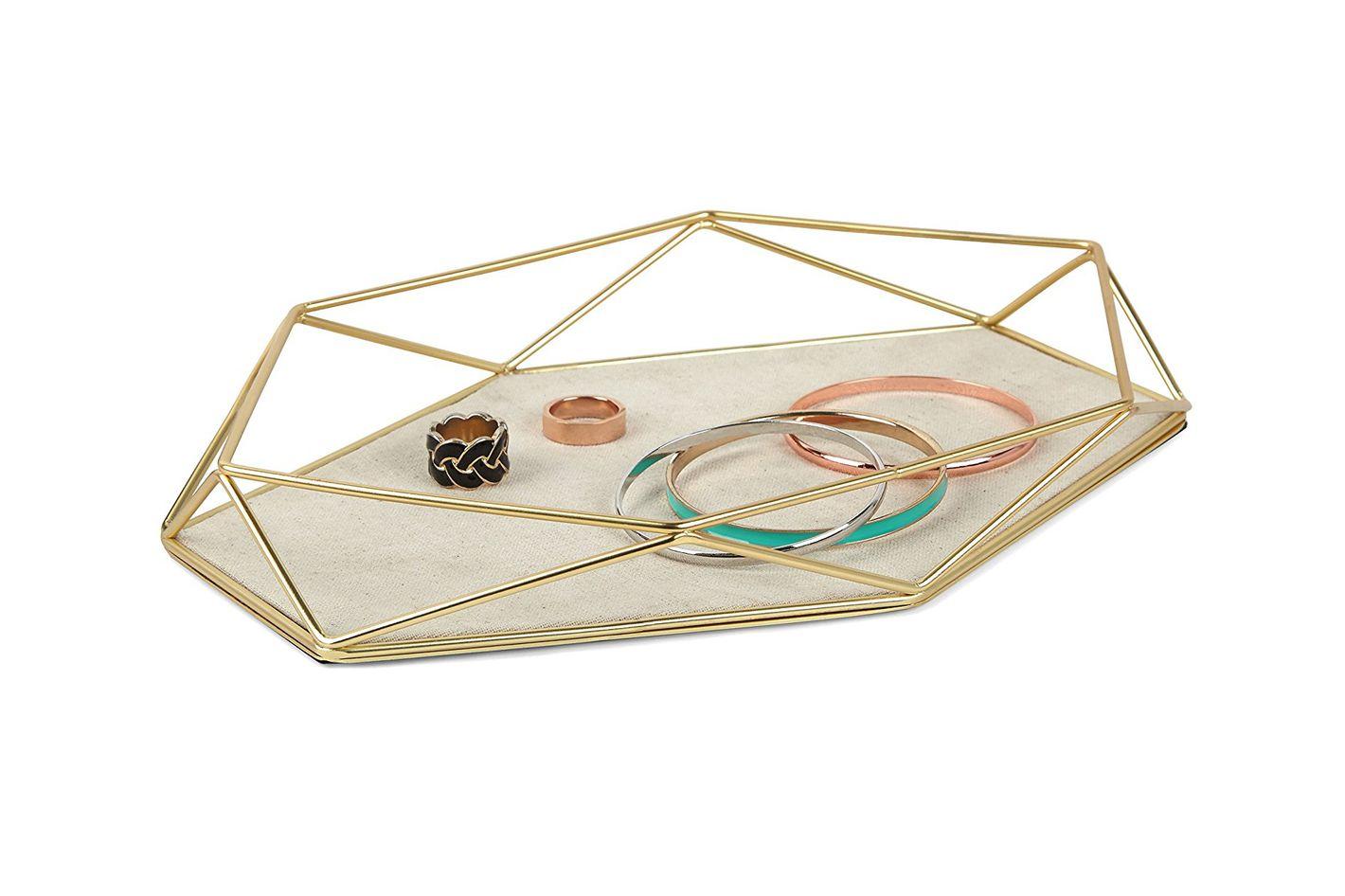 Umbra Prisma Jewelry Tray, Matte Brass