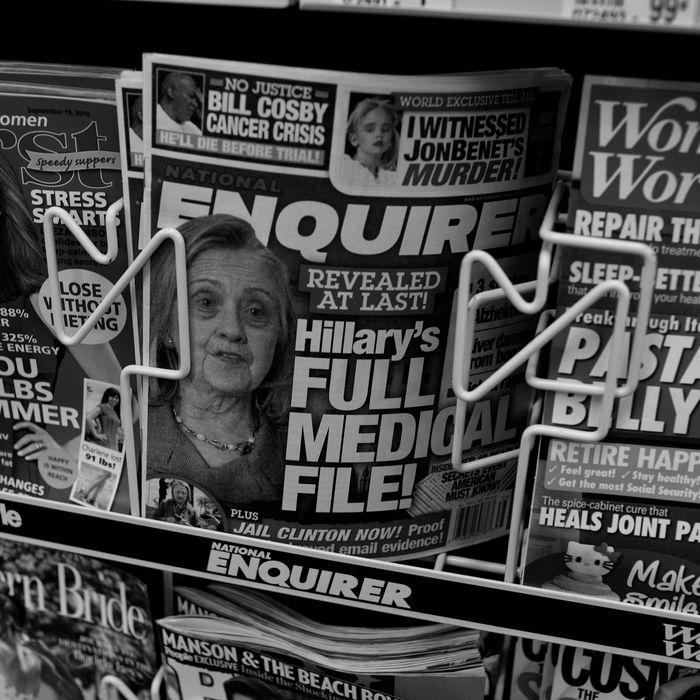 National Enquirer on newsstands.