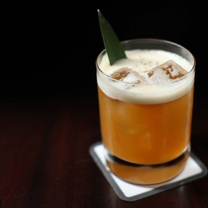 The NoMad Bar's Charlie Watts: aged rhum agricole, Guyanaese rum, Batavia Arrack, black pepper, apricot, lemon, and pineapple.