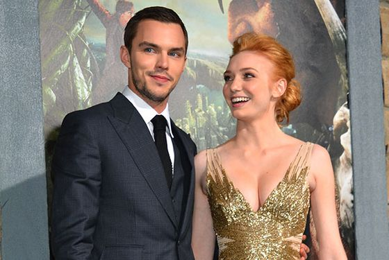 "HOLLYWOOD, CA - FEBRUARY 26:  Actors  Nicholas Hoult (L) and Eleanor Tomlinson attend the premiere of New Line Cinema's ""Jack The Giant Slayer"" at TCL Chinese Theatre on February 26, 2013 in Hollywood, California.  (Photo by Alberto E. Rodriguez/Getty Images)"