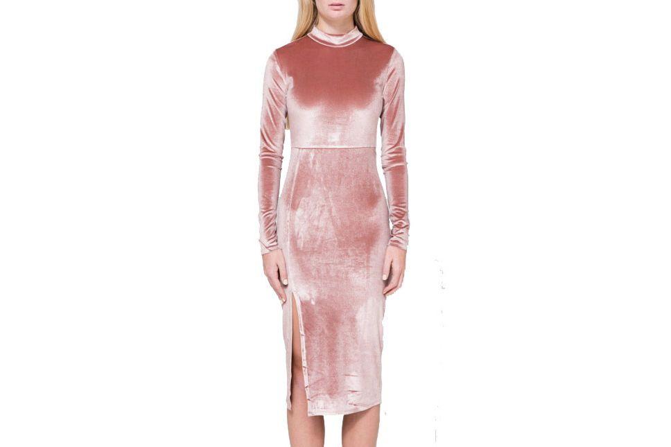 Farrow velvet midi-dress
