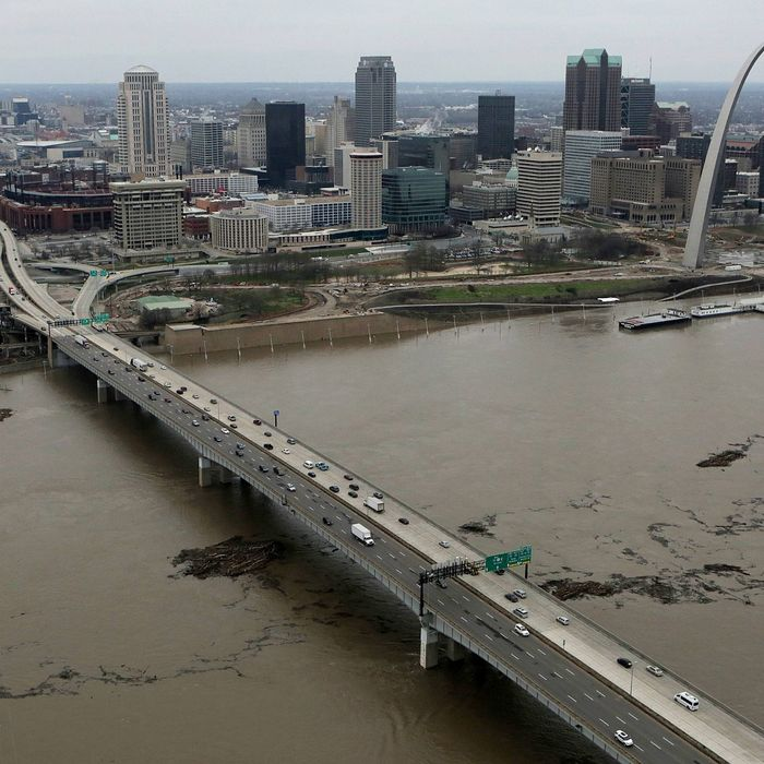 Flooding in Mississippi River