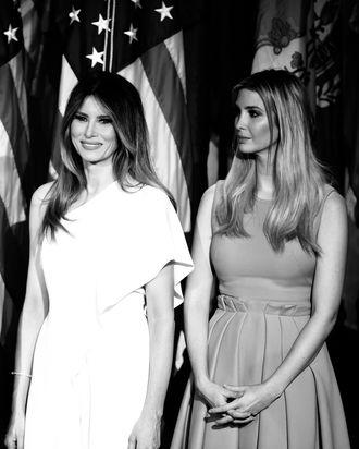 Melania and Ivanka Trump.