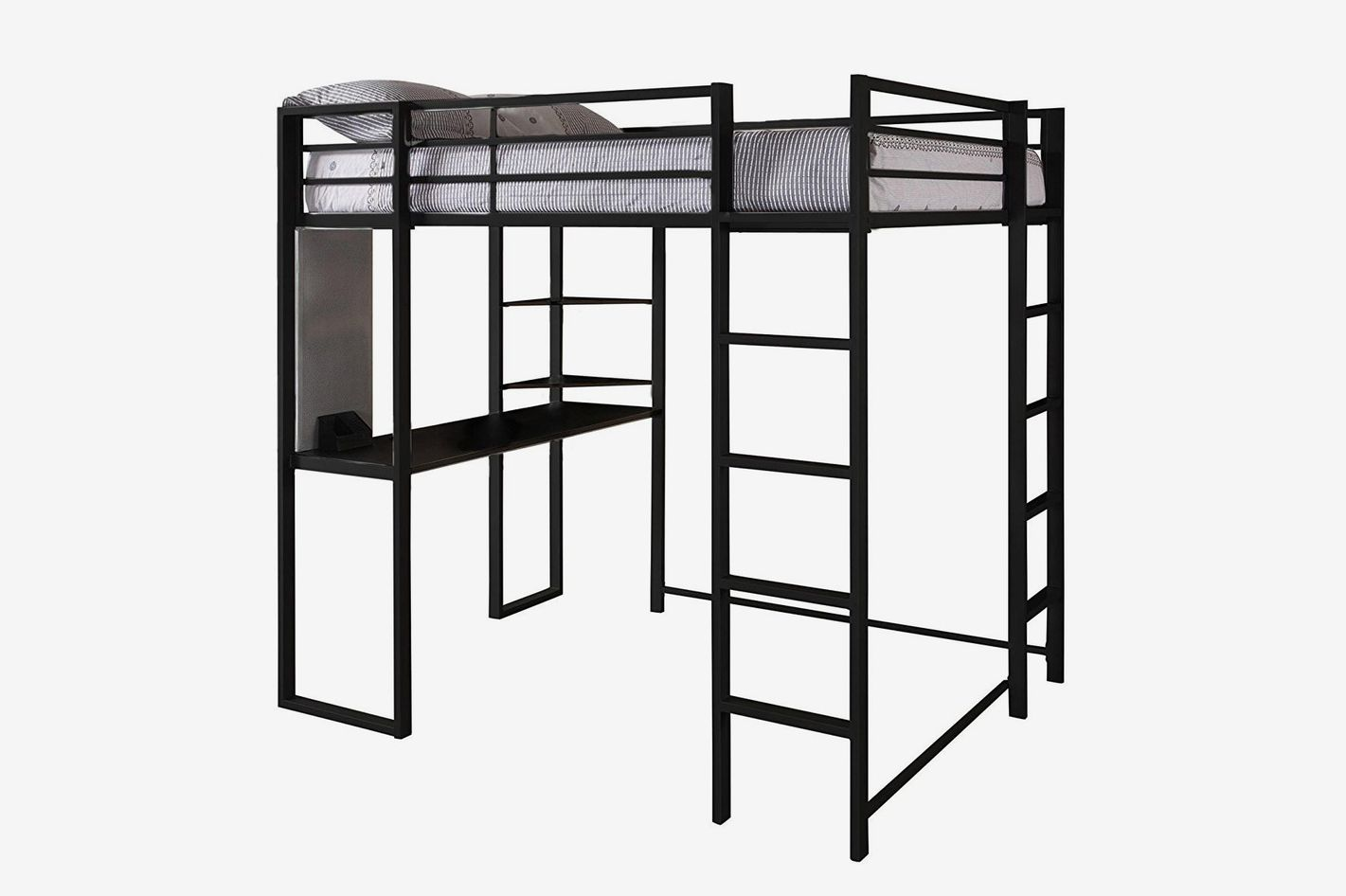 Dhp Abode Full Size Loft Bed Metal Frame With Desk And Ladder