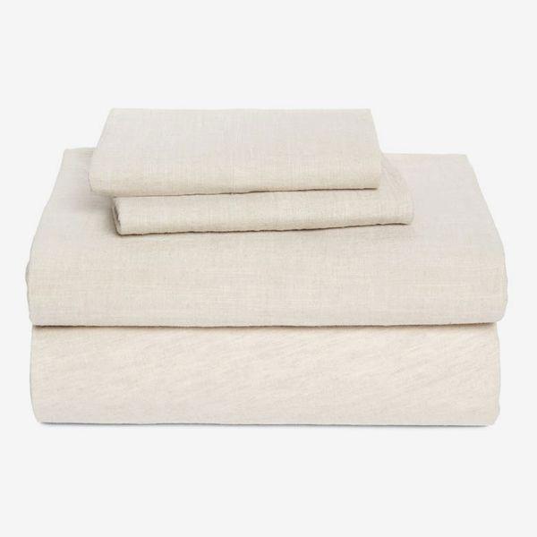 Treasure & Bond Linen & Cotton Queen Sheet Set