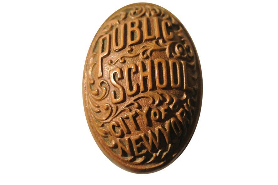 Very Rare Antique NYC Public School Door Knob