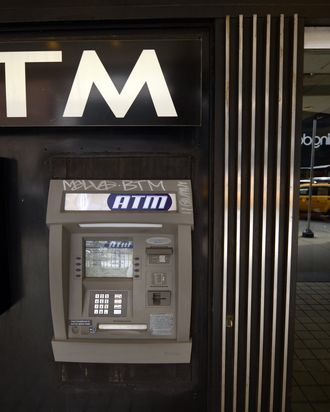 An ATM machine on Third Avenue is viewed in New York on May 10, 2013, just one of the many that were used as cyber thieves around the world stole $45 million by hacking into debit card companies, scrapping withdrawal limits and helping themselves from cash machines, US authorities said May 9, 2013. The massive heist unfolded