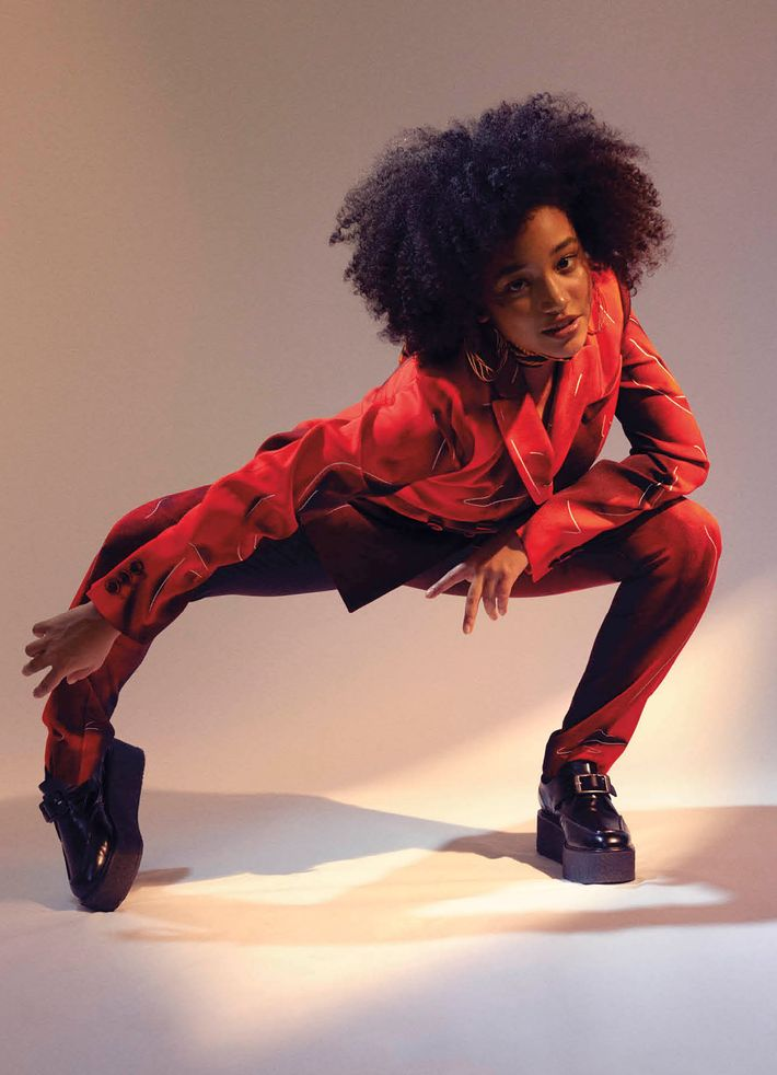 Amandla Stenberg, styled by Emma Wyman and photographed by Charlie Engman for <i>V</i> magazine.