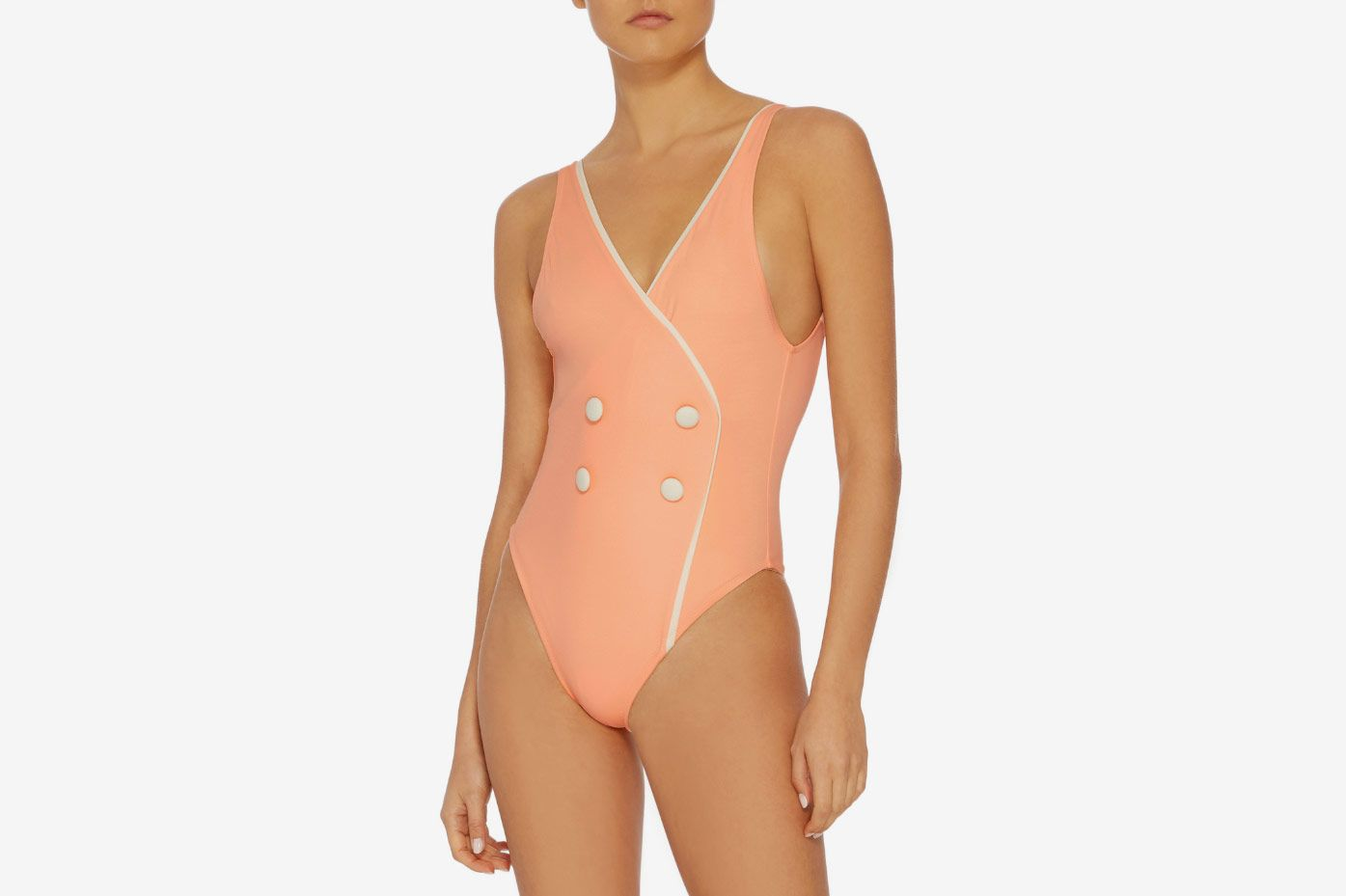 Solid & Striped the Juliette Button Front One Piece Swimsuit