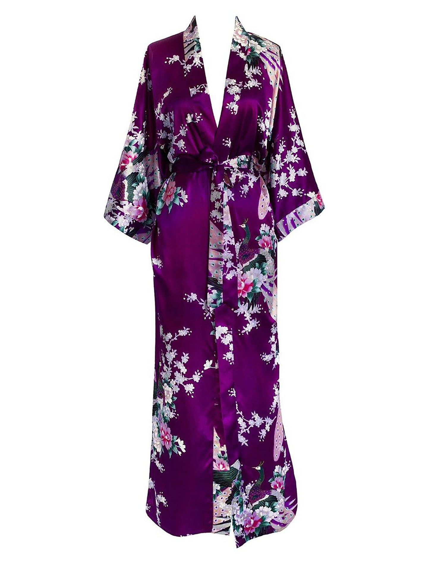 Peacock & Blossoms Robe