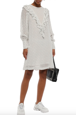 Ganni Rometty Georgette Dress (Off-White)