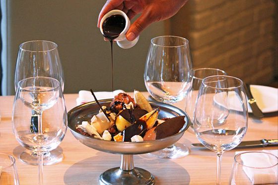 "<b>Gripper's Chocolate Grail for Two</b>     <a href=""http://southflorida.menupages.com/restaurants/the-dutch/"">The Dutch Miami </a>     <i> 2201 Collins Ave, Miami Beach; 305-938-3111</i>   Pastry chef Josh Gripper created a mega souped-up chocolate sundae (to be shared!) that Andrew Carmellini is calling his favorite dessert on the menu at his new Dutch outpost. Probably because it's made with just about everything Gripper has in the kitchen: Two flavors of homemade ice cream (chocolate and caramel), passion-fruit sorbet, a brownie, housemade marshmallow fluff, hazelnut cream, some caramelized banana, chocolate mousse, crunchy meringue, crunchy fuielletine, passion-fruit syrup, and shards of tempered dark chocolate. Oh, and <i>then</i> chocolate sauce is drizzled tableside over the whole gut-busting thing."