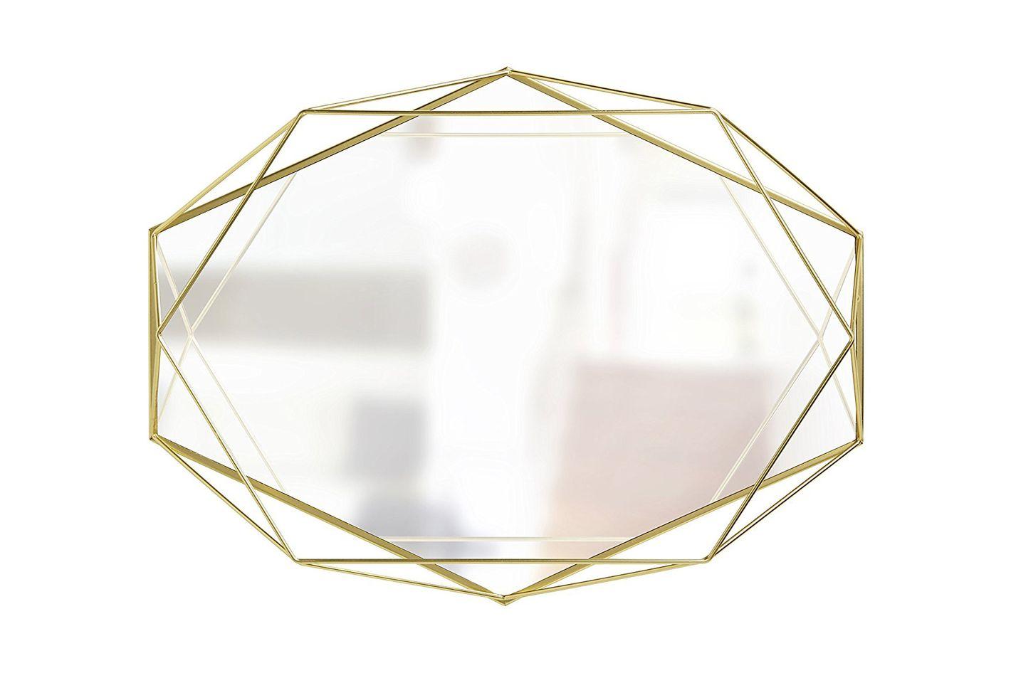 Umbra Prisma Wall Mirror, Matte Brass