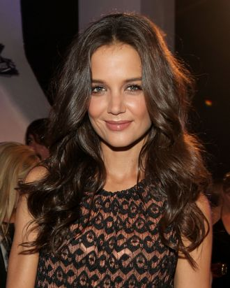 LOS ANGELES, CA - AUGUST 28: Actress Katie Holmes arrives at the 2011 MTV Video Music Awards at Nokia Theatre L.A. LIVE on August 28, 2011 in Los Angeles, California. (Photo by Christopher Polk/Getty Images)