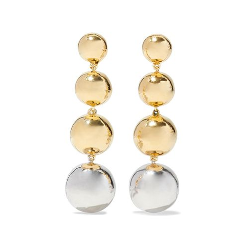 Elizabeth and James Gold and silver-tone earrings