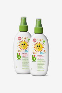 Babyganics SPF 50 Baby Sunscreen Spray UVA UVB Protection (2-Pack)