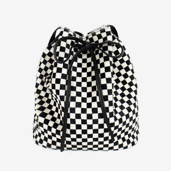 Primecut Checkered Bucket Bag