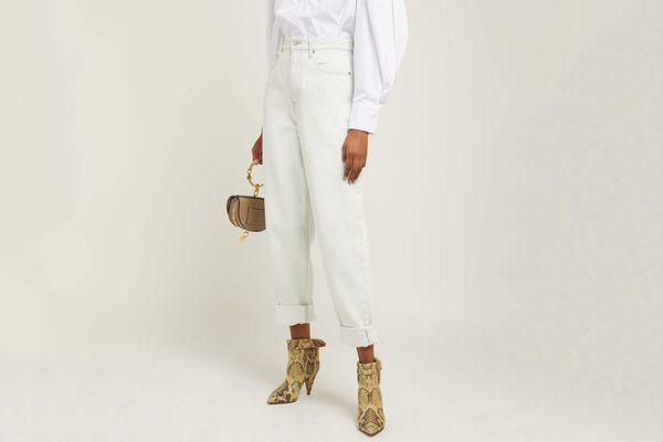 Isabel Marant Etoile Corsy High Rise Straight Leg Jeans