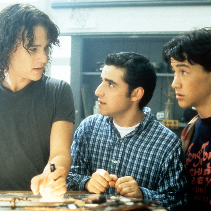 Heath Ledger And Joseph Gordon-Levitt In '10 Things I Hate About You