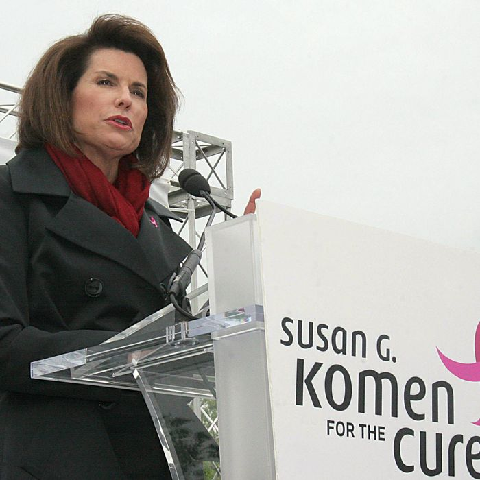 Nancy Brinker, Founder, Susan G. Komen for the Cure makes remarks at the Komen Community Challenge rally 26 April, 2007 on Capitol Hill in Washington, DC.