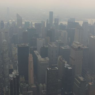 New York City in smog, New York