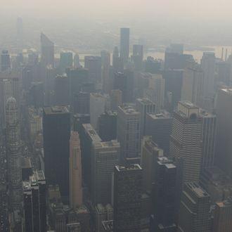 New York City in smog, New York